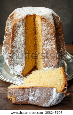 Pandoro Italian Christmas Cake Stock Photo Royalty Free 358245905 Shutterstock