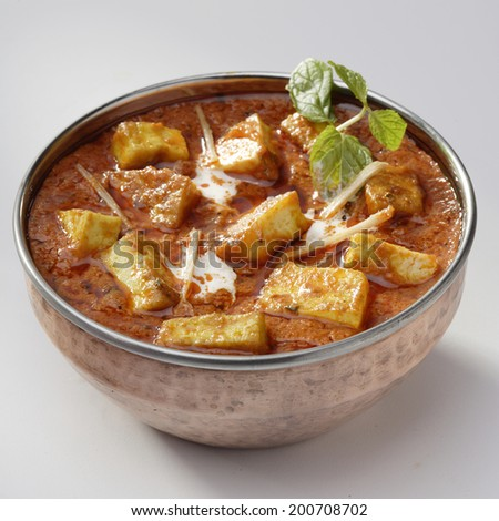 PaneerTikka Masala, Indian gravy - stock photo