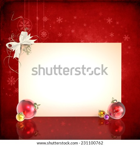 Panel and Christmas decorations