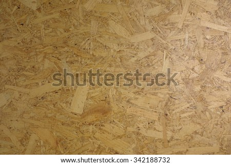 Panel from compressed wood chips and resin - stock photo
