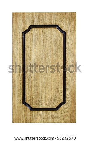 Panel natural wood with shaped notch.