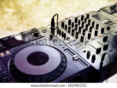 Panel of DJ - stock photo