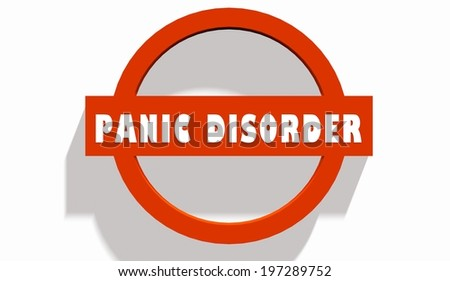 panic disorder text on stop road sign