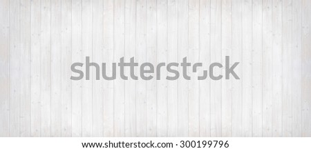panorama background of light grey wooden planks, painted with environmentally friendly colors, vertical lined - stock photo