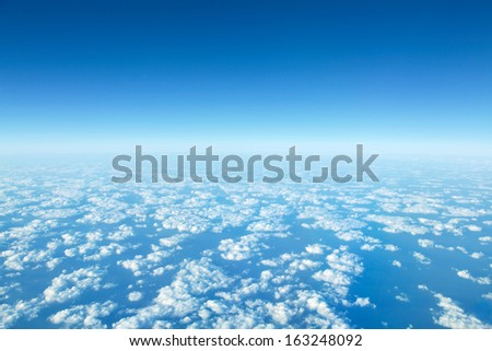 panorama cloudscape - stock photo