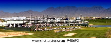 Panorama FBR Open Golf, Phoenix, Arizona USA (exclusive at shutterstock) - stock photo