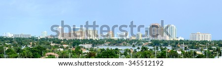 Panorama Fort Lauderdale, Florida, USA - stock photo