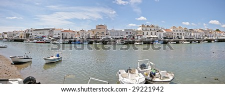 Panorama from Tavira in Portugal