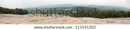 Panorama from the Summit of Stone Mountain, North Carolina