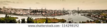 panorama golden horn at istanbul turkey - stock photo