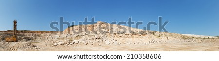 panorama limestone in the development of rock - stock photo