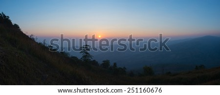 Panorama Loei province ,Thailand  in morning with sunrise