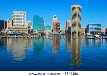 Panorama of Baltimore - stock photo