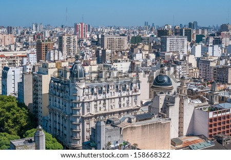 Panorama of Buenos Aires, Argentina - stock photo