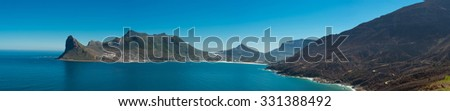 Panorama of Cape Point, South Africa Coast Line - stock photo