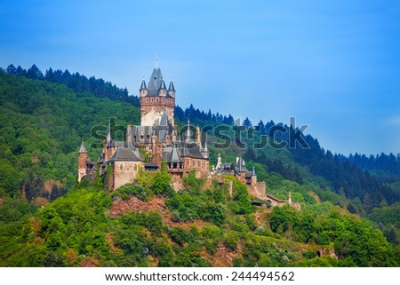 Panorama of Cochem in Germany, Europe - stock photo