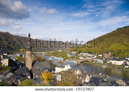 Panorama of Cochem, Rhineland-Palatinate, Germany - stock photo