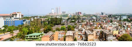 panorama of Colombo- the capital of Sri Lanka