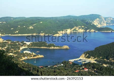 Panorama of Corfu island