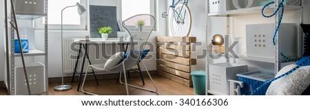 Panorama of creative space in modern studio - stock photo