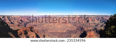 Panorama of Grand Canyon National Park - stock photo