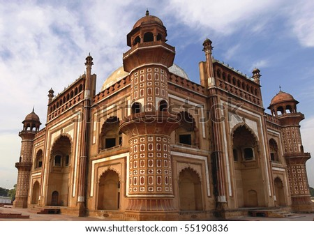 Panorama of Humayuns Tomb Delhi - India - stock photo