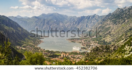 Panorama of Kotor,Montenegro