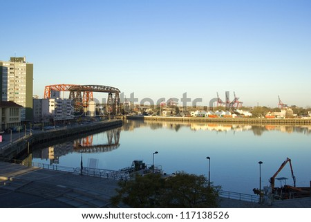 Panorama of La Boca, Buenos Aires, Argentina - stock photo