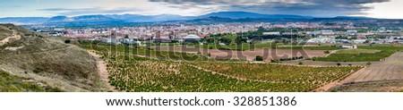 Panorama of Logrono, Spain - stock photo