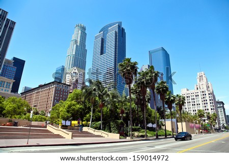 Panorama of Los Angeles Downtown - stock photo