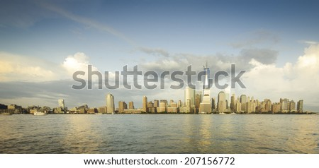 Panorama of NYC in the Summer. - stock photo