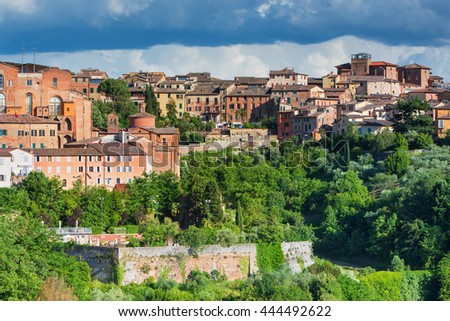 Panorama of old city of Siena,Italy