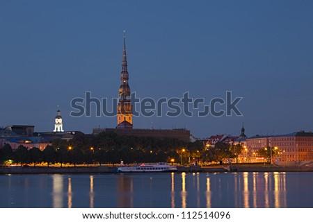 Panorama of old Riga. Latvia - stock photo