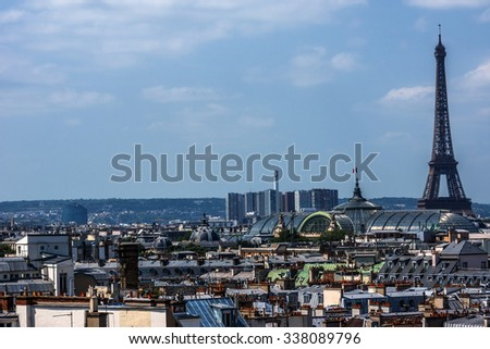 Panorama of Paris. France.
