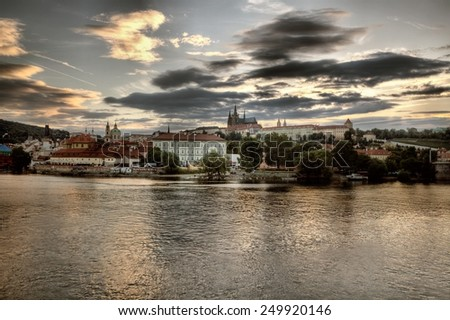 Panorama of Prague, Czech Republic.  - stock photo