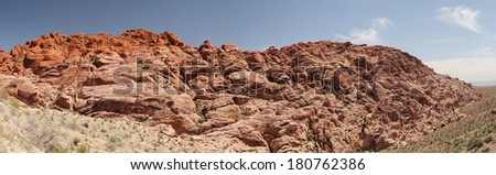 Panorama of red rock canyon in Nevada, united states - stock photo