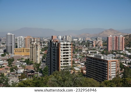 Panorama of Santiago de Chile