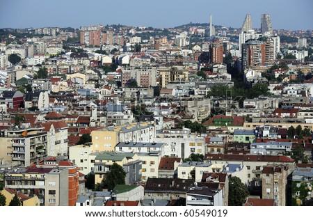 Panorama of Serbia capital city Belgrade - stock photo