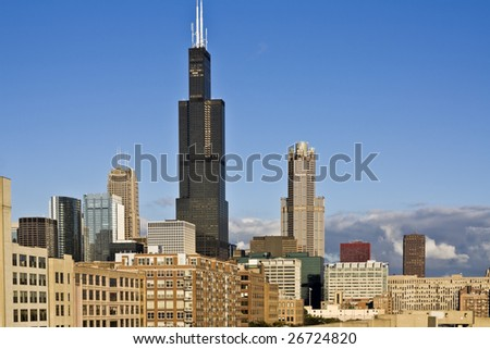 Panorama of South Loop - Chicago, IL. - stock photo