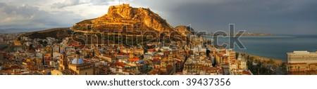 Panorama of Spain - stock photo