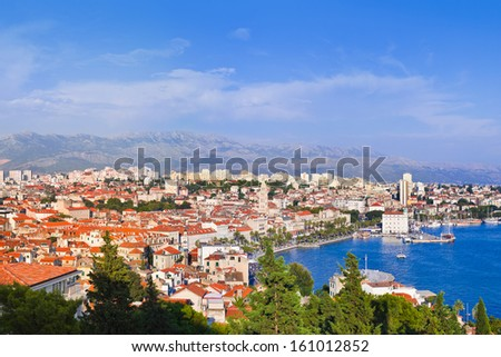 Panorama of Split, Croatia - architecture travel background