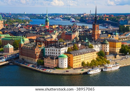 Panorama of Stockholm, Sweden - stock photo