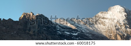Panorama of Swiss mountains