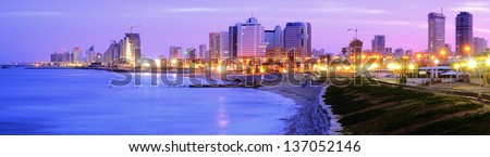 Panorama of Tel Aviv, Israel - stock photo