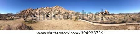 panorama of the Arizona desert - stock photo