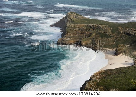 Panorama of the Cape of Good Hope South Africa  - stock photo