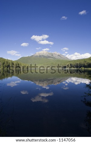 Panorama of the charming Alces Lake - Located in the Whiteswan Lake Provincial Park in the Kootenay Range of the Rocky Mountains, British Columbia, Canada