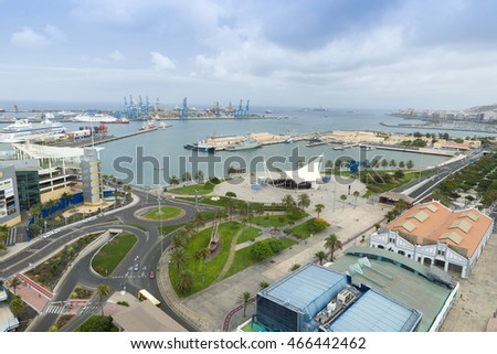 Panorama of the city of Las Palmas de Gran Canaria. The Canary Islands. Spain
