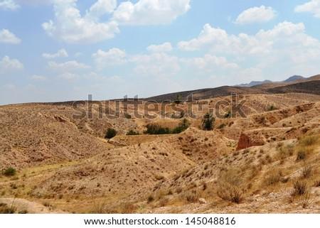 Panorama of the desert village of Matmata - Tunisia, Africa - stock photo