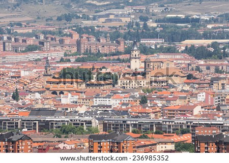 Panorama of the downtown of Vitoria, Spain - stock photo